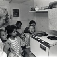 LB Islington, safety demonstration at Isledon Teachers Centre, 1991