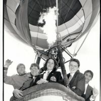 LB Ealing, ballooning at Twyford High School, 1993