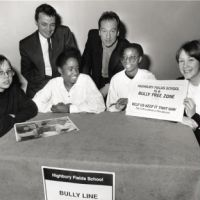 LB Islington, bully free zone at Highbury Fields School, 1995
