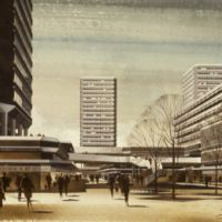 LB Bexley, artist's impression of the Erith Town development, 1970