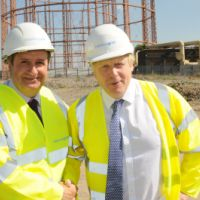 LB Enfield, the Mayor of London and Leader of the Council, visit  a former industrial site now a 'housing zone', 2014
