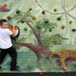 LB Enfield, climbing wall at Chesterfield School, 2014