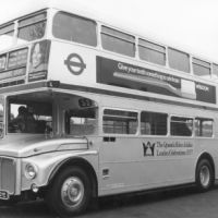 LB Brent, No. 52 bus painted silver to commemorate the Silver Jubilee, 1977