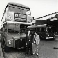 LB Islington, driver and conductor of the No. 19 bus, 1988