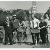 LB Haringey, opening of a cycle path at Alexandra Park by the Minister for Transport in London, local Mayor and MP, 1996