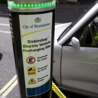 City of Westminster, electric car charging point, 2010