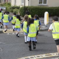 LB Redbridge, Grove Primary School walking to the local library, 2014