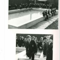 LB Richmond, opening of new pool at St Richard's Primary School, Ham, 1972