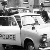 LB Bromley, police officers with their police car, 1967