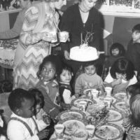 LB Brent, Christmas party at Bertie Road Nursery, 1975