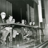 LB Barking and Dagenham, council panel at Barking assembly hall, 1980