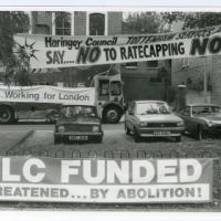 LB Haringey, 'no to rate capping' campaign, 1984