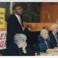 LB Haringey, MPs and councillors at a meeting of the Pensioners' Action Group, 2001