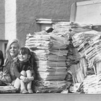 LB Brent, Brent residents collect six tons of waste paper to raise funds for a dialysis machine, 1979
