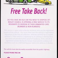 LB Bexley, free take back scheme for unwanted cars, 2004