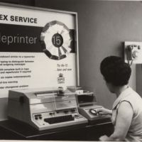 LB Bromley, a telex exchange system at Telephone House, 1965
