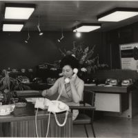 LB Bromley, telephonist in Telephone House, 1965