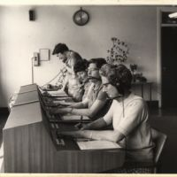 LB Bromley, switchboard operators at Telephone House,1965