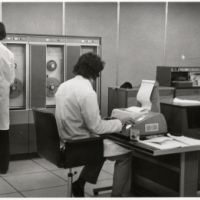 LB Wandsworth, the computer in action in the council's treasury department, 1972