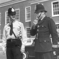 LB Bromley, police officers test their radios, 1966